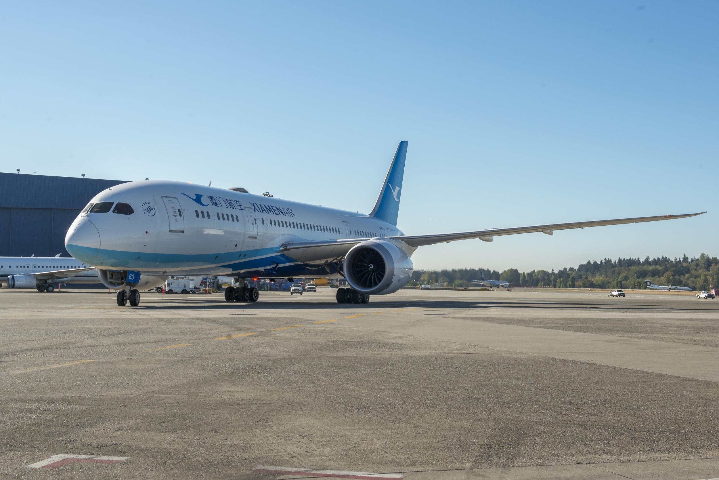 厦门航空787首航西雅图